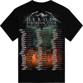 Heroes European Tour 2014-2015 Sabaton T-shirt Backside