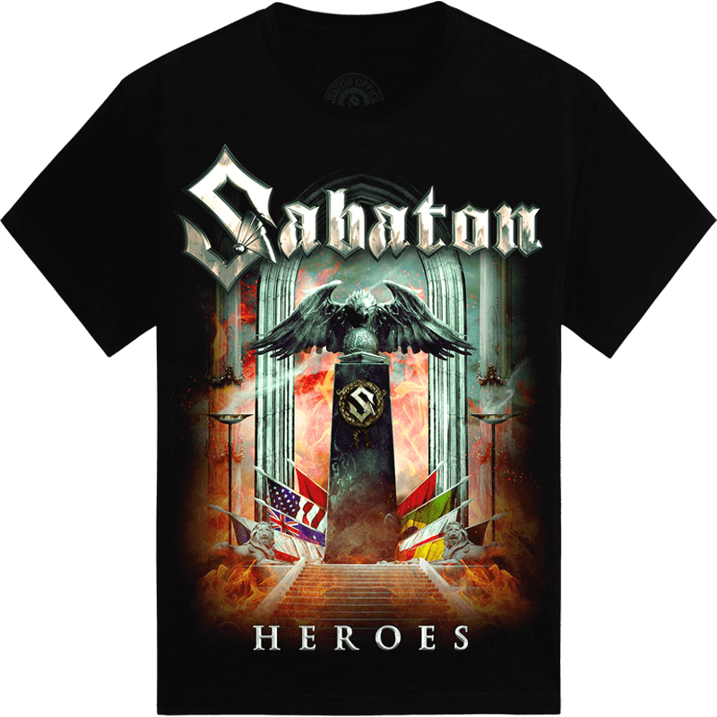 Heroes European Tour 2014-2015 Sabaton T-shirt Frontside