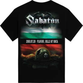 Hills of Rock Bulgaria 2018 Sabaton Exclusive T-shirt Backside