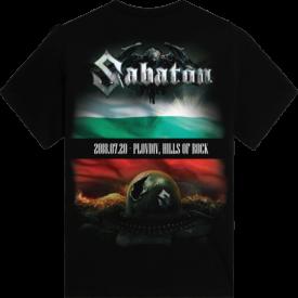Hills of Rock Bulgaria 2018 Sabaton Exclusive T-shirt Backside