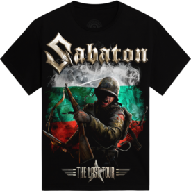 Hills of Rock Bulgaria 2018 Sabaton Exclusive T-shirt Frontside