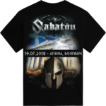 Rockwave Athens 2018 Sabaton Exclusive T-shirt Backside