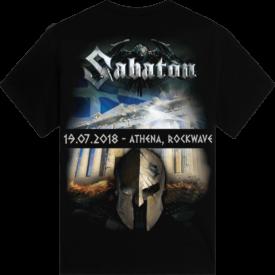 Rockwave Athens 2018 Sabaton Exclusive T-shirt Backside