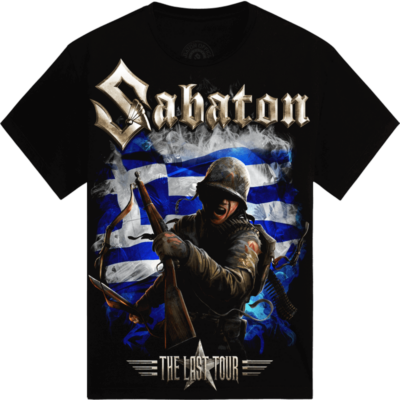 Rockwave Athens 2018 Sabaton Exclusive T-shirt Frontside