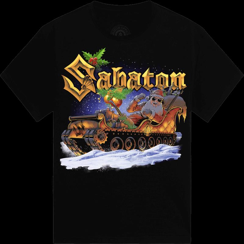Sabaton Xmas Limited Tshirt Frontside