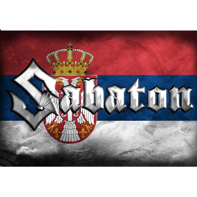 Serbia Sabaton Logo Flag