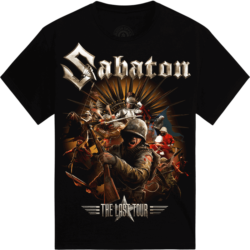 Soldiers of the Last European Tour 2017 Sabaton T-shirt Frontside