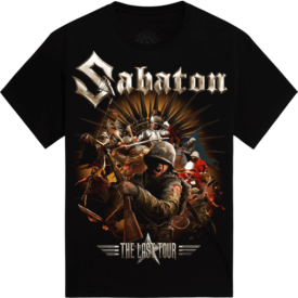 The Last European Tour 2017 Sabaton T-shirt Kids Frontside