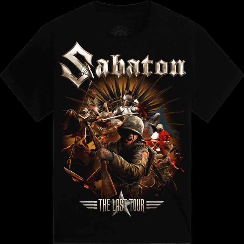 The Last European Tour 2017 Sabaton T-shirt Kids Frontside