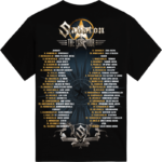 The Last European Tour 2017 Sabaton T-shirt Backside