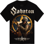 The Last European Tour 2017 Sabaton T-shirt Frontside