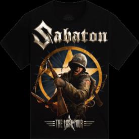 The Last European Tour 2017 Sabaton T-shirt Frontside