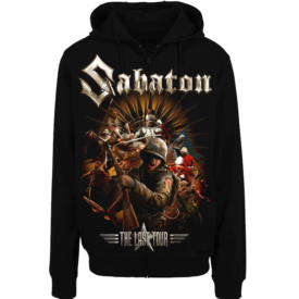 The Last European Tour 2017 Zip Hoodie Sabaton Frontside
