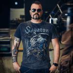 War Eagle Sabaton T-shirt Vintage Collection Frontside Joakim