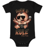 Born to Rule Sabaton Baby Bodysuit Frontside