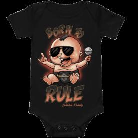 Born to Rule Sabaton Baby Bodysuit Frontside