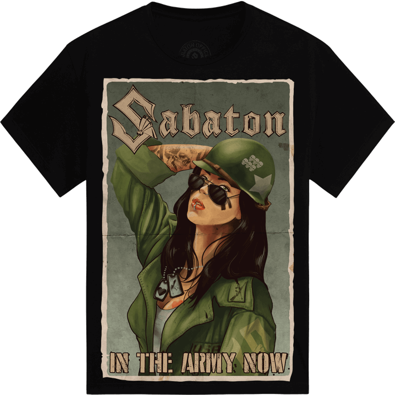 In the Army Now Sabaton T-shirt Women Frontside