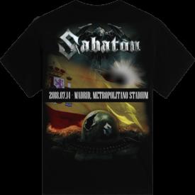 Madrid 2018 Sabaton Exclusive T-shirt Backside