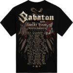 The Great Tour of North America 2019 Sabaton Official T-shirt Backside