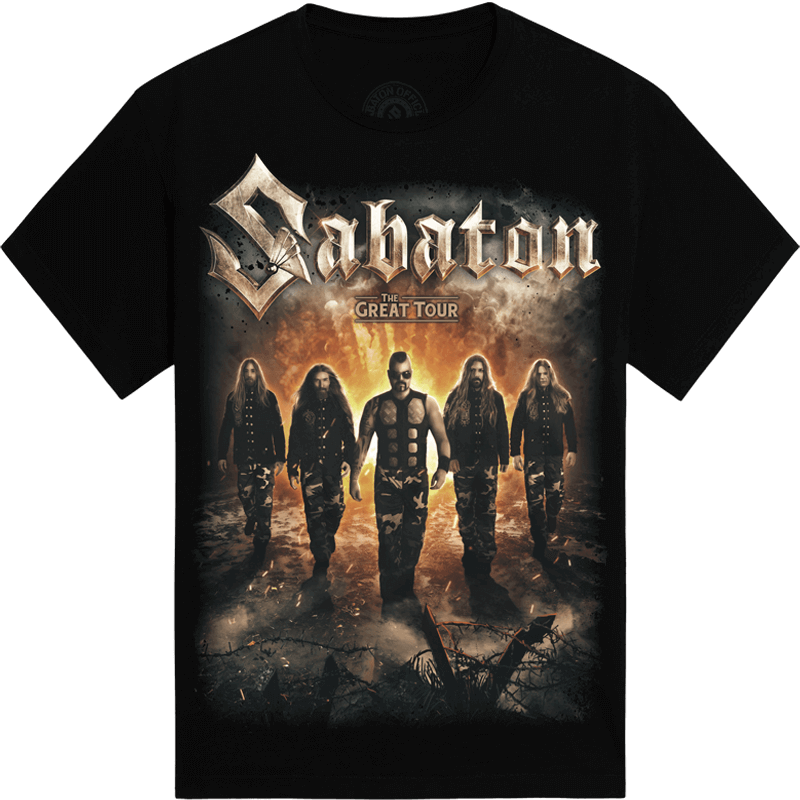 The Great Tour of North America 2019 Sabaton Official T-shirt Frontside