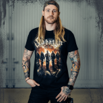The Great Tour of North America 2019 Sabaton Official T-shirt Frontside Hannes