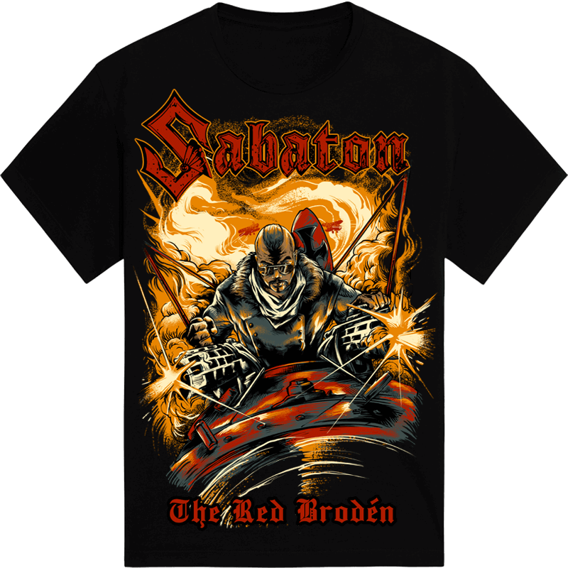 The Red Broden Black Sabaton T-shirt Frontside