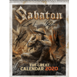 The Great Calendar 2020 Sabaton Front Cover Signed with autographs