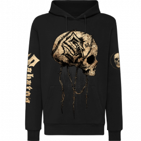 Barbed Skull Sabaton Non-zip Hoodie Frontside