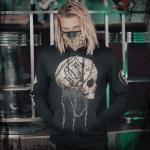 Barbed Skull Sabaton Non-zip Hoodie Frontside Model