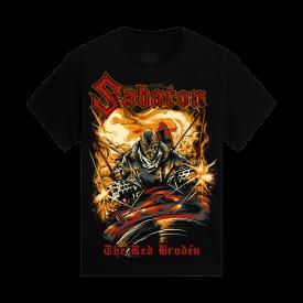 The Red Broden Black Sabaton T-shirt Kids Frontside