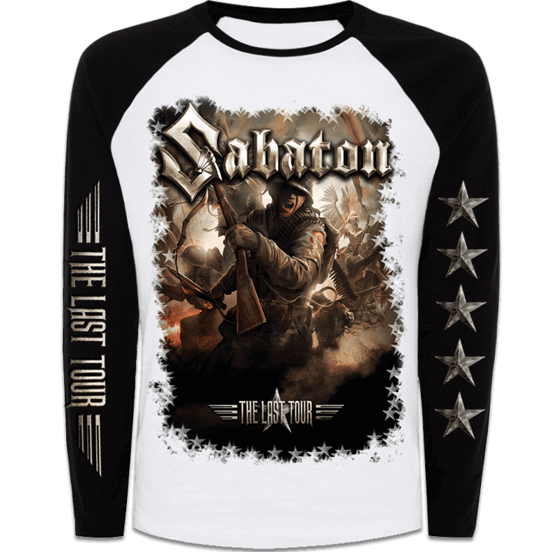 The Last Tour 2017 Sabaton Raglan Long Sleeve Shirt Frontside