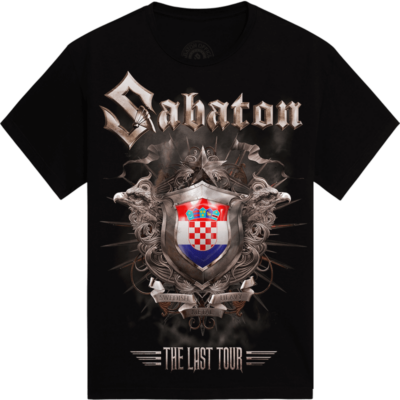 Zagreb - Croatia The Last Stand Tour 2017 Sabaton Exclusive T-shirt Frontside