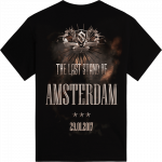 Amsterdam - the Netherlands The Last Stand Tour 2017 Sabaton Exclusive T-shirt Backside