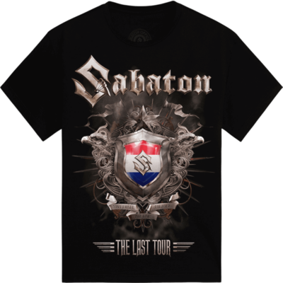 Amsterdam - the Netherlands The Last Stand Tour 2017 Sabaton Exclusive T-shirt Frontside