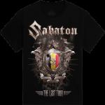 Antwerp - Belgium The Last Stand Tour 2017 Sabaton Exclusive T-shirt Frontside