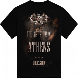 Athens - Greece The Last Stand Tour 2017 Sabaton Exclusive T-shirt Backside