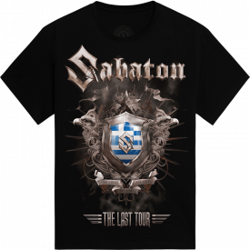 Athens - Greece The Last Stand Tour 2017 Sabaton Exclusive T-shirt Frontside