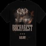 Bucharest - Romania The Last Stand Tour 2017 Sabaton Exclusive T-shirt Backside