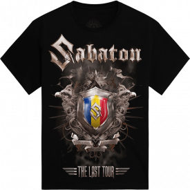 Bucharest - Romania The Last Stand Tour 2017 Sabaton Exclusive T-shirt Frontside