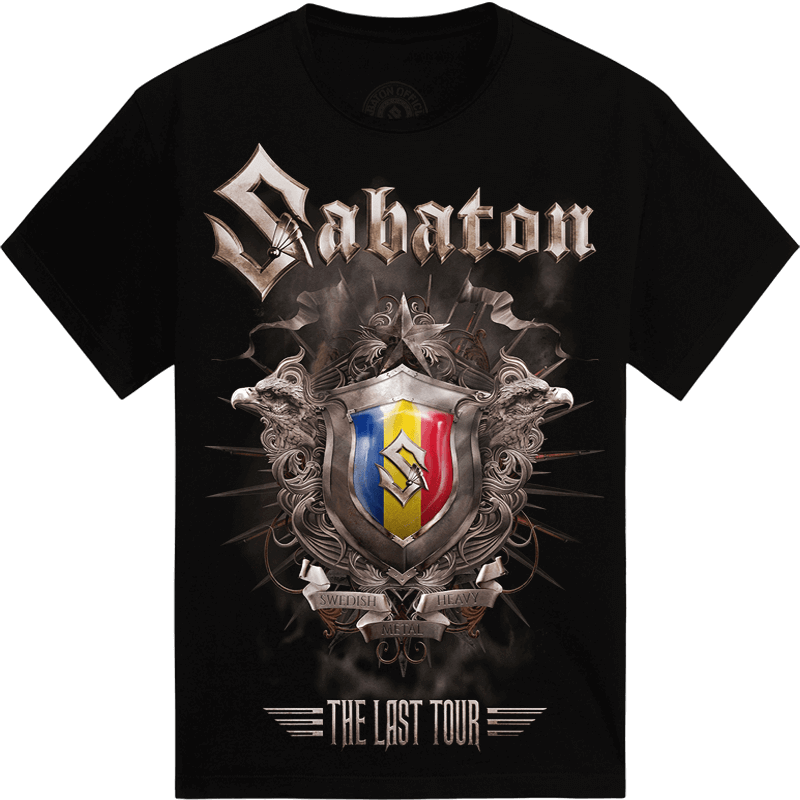 Bucharest - Romania The Last Stand Tour 2017 Sabaton Exclusive T-shirt Frontside