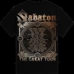 Crying Soldier The Great EU Tour 2020 Sabaton T-shirt Backside