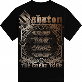 Crying Soldier The Great EU Tour 2020 Sabaton T-shirt Backside