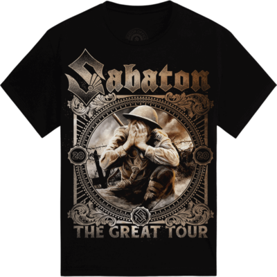 Crying Soldier The Great EU Tour 2020 Sabaton T-shirt Frontside