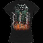 Heroes on European Tour 2014-2015 Sabaton T-shirt Women Backside