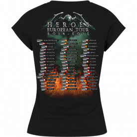 Heroes on European Tour 2014-2015 Sabaton T-shirt Women Backside