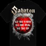 Japan The Last Stand Tour 2018 Sabaton Exclusive T-shirt Backside