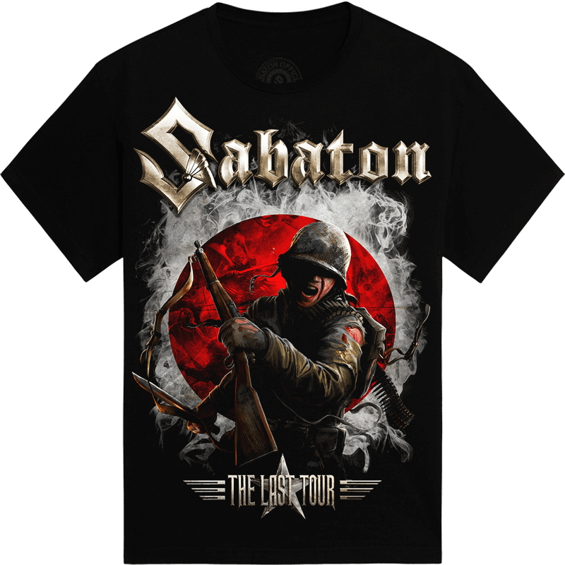 Japan The Last Stand Tour 2018 Sabaton Exclusive T-shirt Frontside