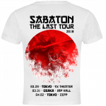 Japan The Last Stand Tour 2018 Sabaton Exclusive White T-shirt Backside