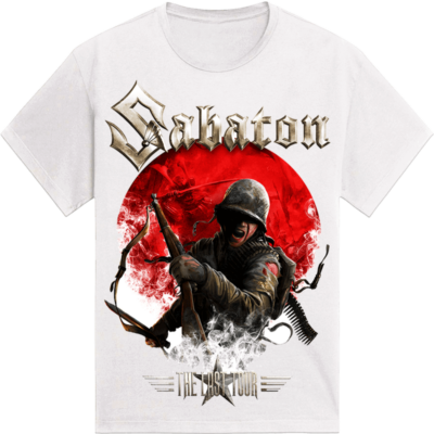 Japan The Last Stand Tour 2018 Sabaton Exclusive White T-shirt Frontside