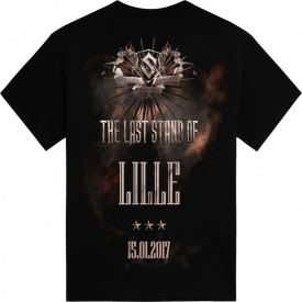 Lille - France The Last Stand Tour 2017 Sabaton Exclusive T-shirt Backside
